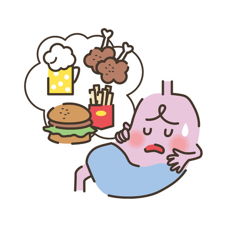 overwork: Unhealthy stomach