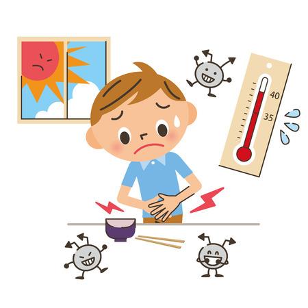 Niño por comida Ilustración de vector