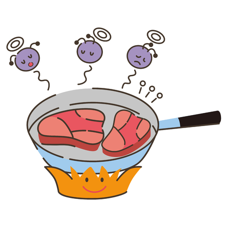 poisoning: Cooked meat Illustration