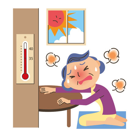 body temperature: Old man of the heat stroke