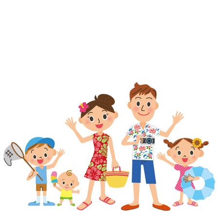 Les vacances d'été de la famille