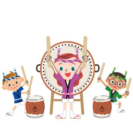 drum and child Illustration