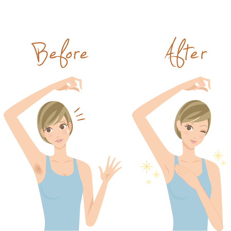 bodycare: Disposal of underarm hairs Illustration
