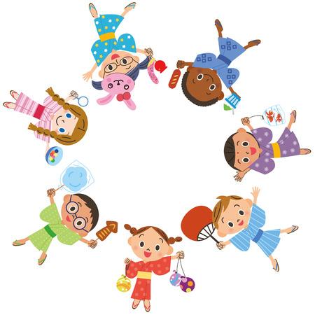 Children enjoying a festival