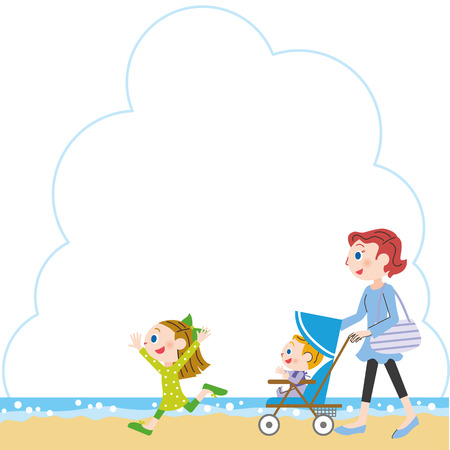 going out: Seaside and parent and child