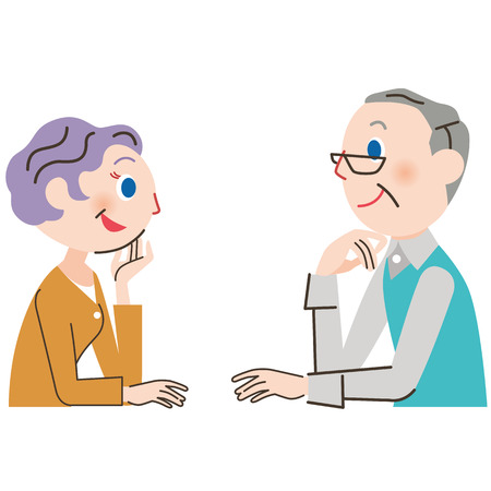 old couple: old couple and conversation
