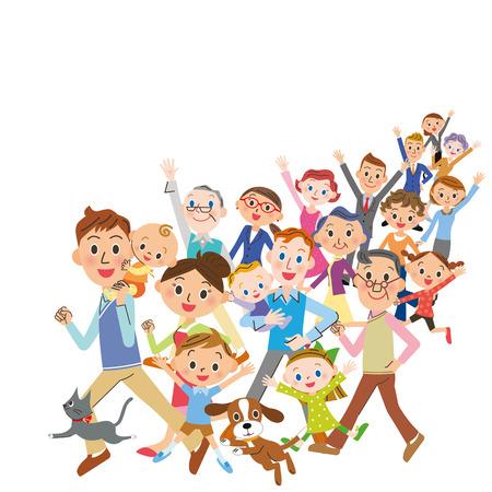 large number of people Illustration