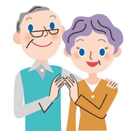 Glückliche alte Paare Standard-Bild - 64549595