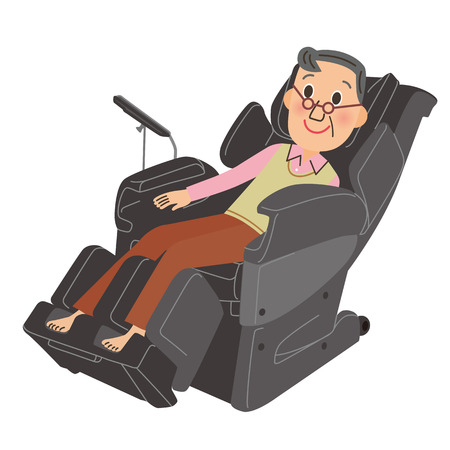 Grandfather whom I massage Illustration