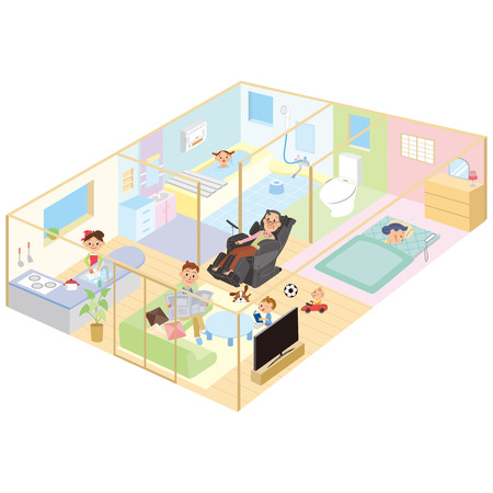 house illustration: Layout of the room Illustration