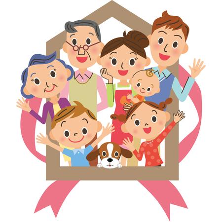 Maison de famille sur trois générations