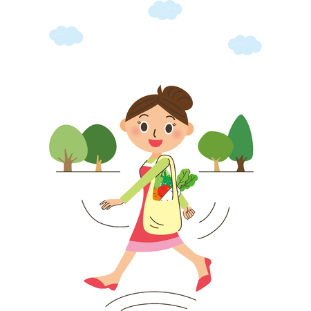 stride: The housewife who does a long stride walk