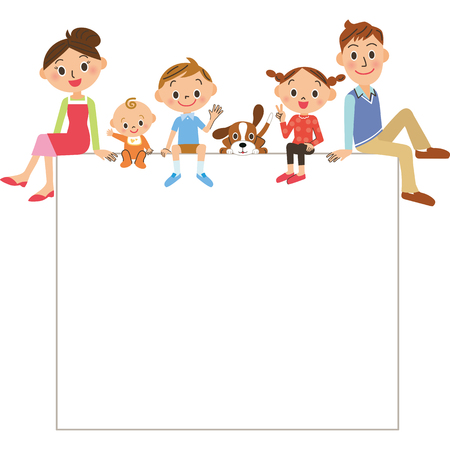 sit: Family frame Illustration