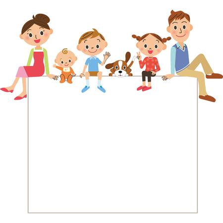 to sit: marco de la familia