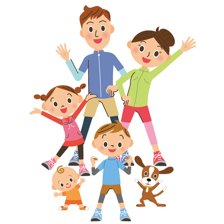 親と子の体操を行う 写真素材 - 67015305