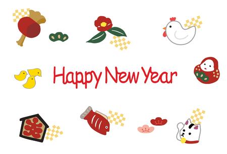 camellia: New Years card 2017 mascot