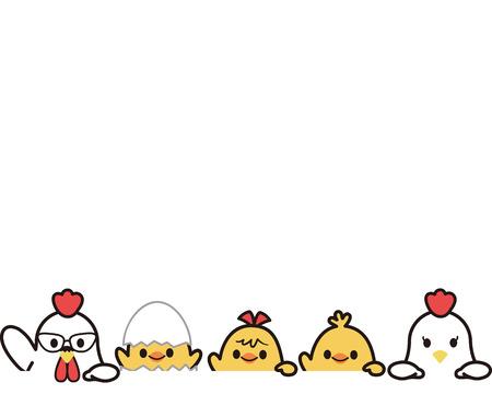 family: Chicken family Illustration