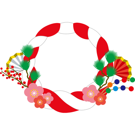 Shinto straw festoon Illustration