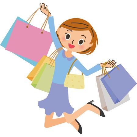 The woman who enjoys shopping