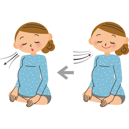 The breathing method of the delivery