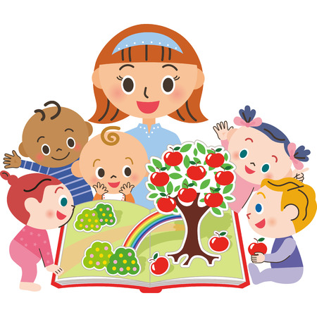 baby: I read a picture book to a baby