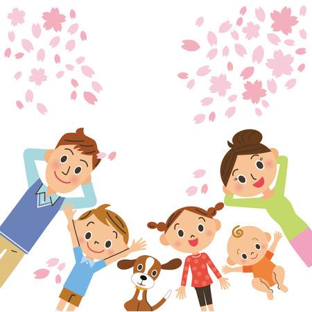 벚꽃과 가족