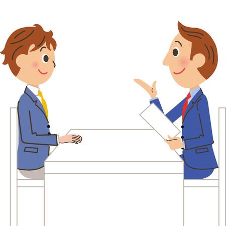 boy teacher and student Ilustração Vetorial