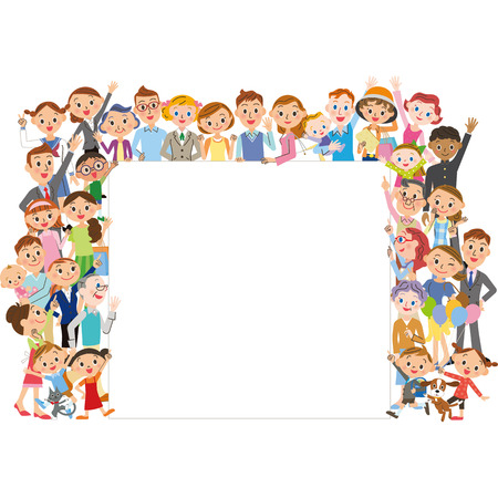 number of people: large number of people Illustration