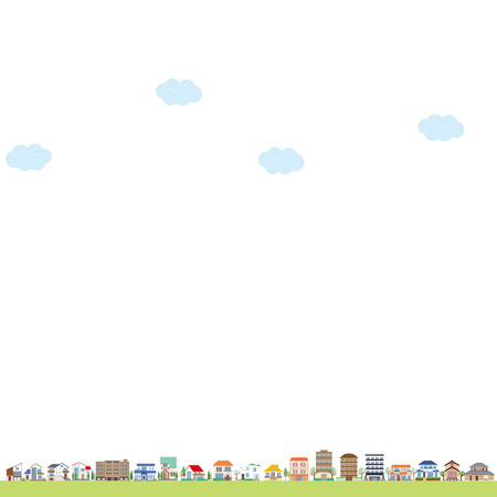 blank spaces: Cityscape Illustration