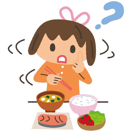 食事と女の子