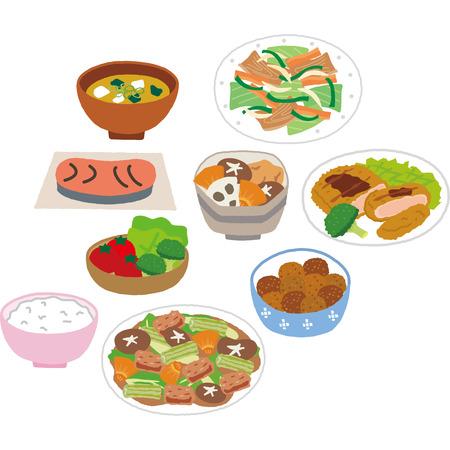 Dish Illustration Standard-Bild - 75755151