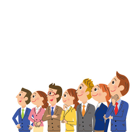 woman male: Office worker meeting Illustration