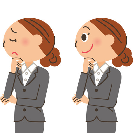 Office worker woman expression Illustration