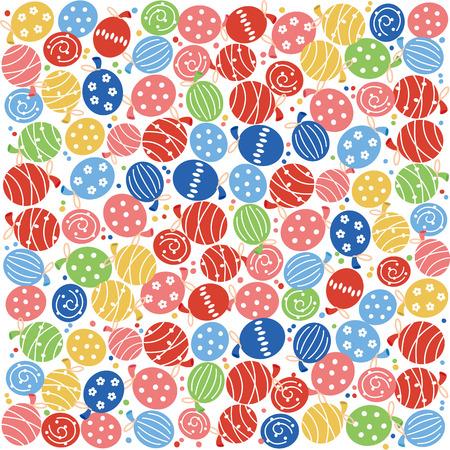 Yoyo balloon illustration.