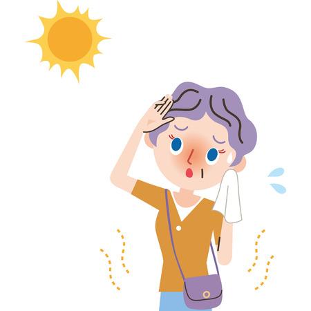 Heat exhaustion Grandmother.