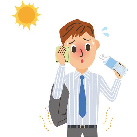 Heat stroke kantoor werknemer
