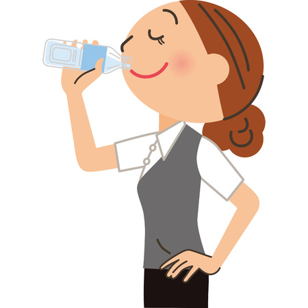 Female employee who drinks drinks