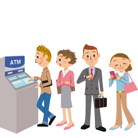 Mensen die banken afronden Stock Illustratie