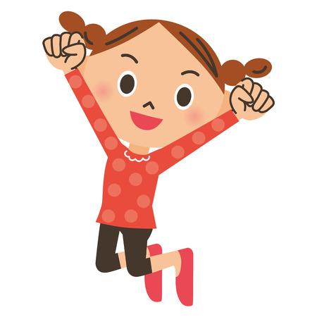 Una muchacha de salto Ilustración de vector