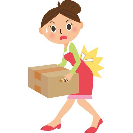 hernia: Mom who hurts back Illustration