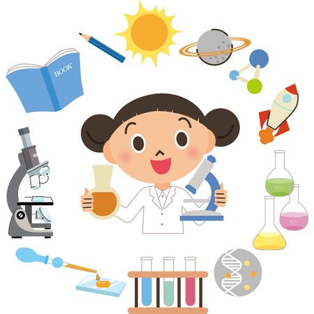 Child who is experimenting with science