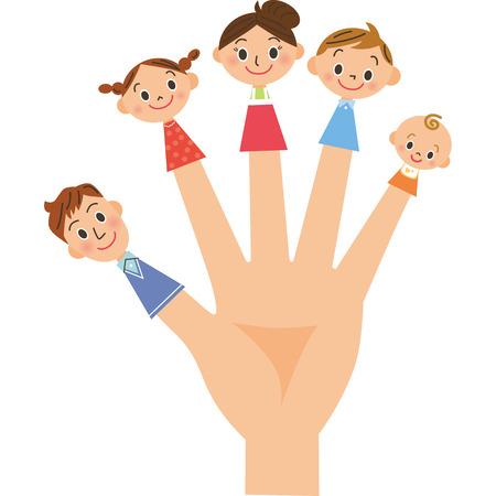 Family finger puppet