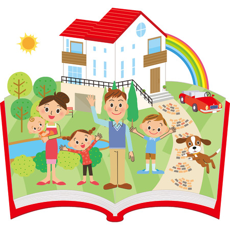 Familie familie Stock Illustratie