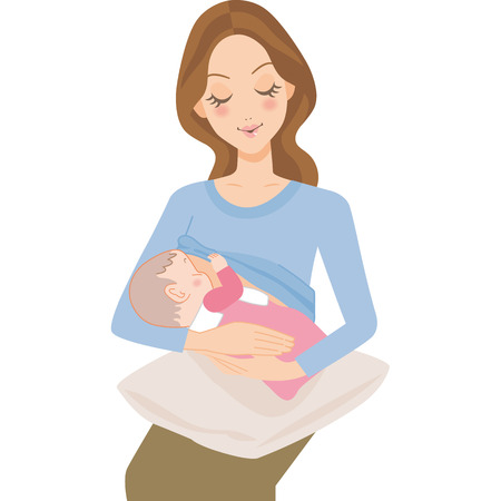 Baby and mother Vector illustration.