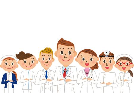 Medical Team illustration.