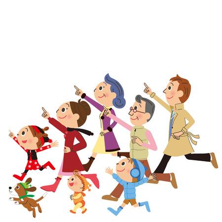 Three Generation Families Running