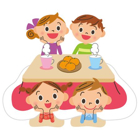 Smiling children vector illustration Illustration