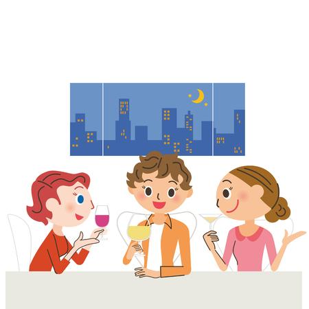 Mädchen , die Party trinken Standard-Bild - 90259374