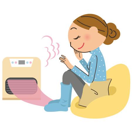 Woman warming up, Vector illustration.