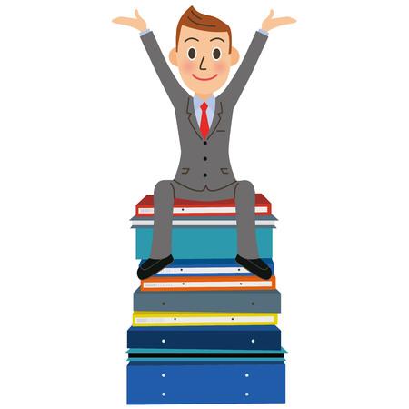 Men who organize documents Illustration